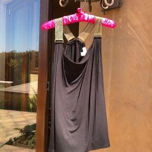 Black jersey knit Michael Kors top